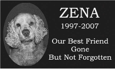Absolute Black Granite 9x14x2 Pet Headstone