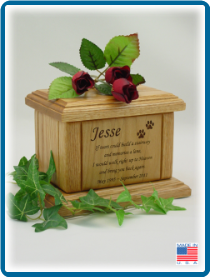 Pet Cremation Urns - Small Memorial Poem