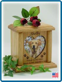 Pet Cremation Urns - Heart-shaped Photo Holder