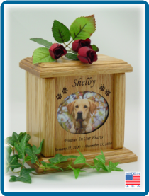 Pet Cremation Urns - Oval Shaped Photo Holder