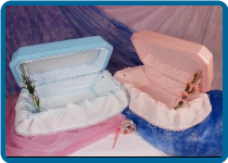 24 Inch Double Wall Colored Blue or Pink Pet Casket