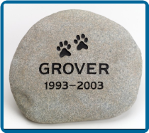 Medium  River Rock Pet Garden Memorial