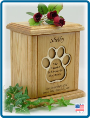 Pet Cremation Urn - Recessed Paw Print