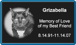 Absolute Black Granite 6x10x2 Pet Headstone