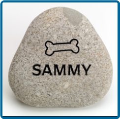 Small River Rock Pet Garden Memorial