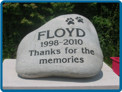 Extra Large River Rock Pet Garden Memorial