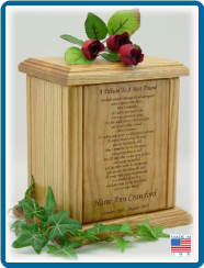 Pet Cremation Urns - Large Memorial Poems