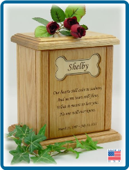 Pet Cremation Urn - Recessed Bone Urn