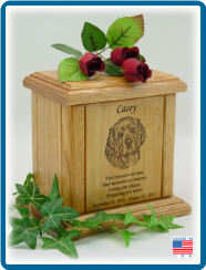 Pet Cremation Urns - Portrait Laser Engraved w/ Small Poem
