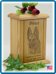 Pet Cremation Urns - Portrait Laser Engraved