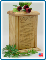 Rainbow Bridge Pet Cremation Urn with Graphic