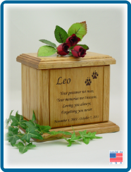 Pet Cremation Urns - Medium Memorial Poem